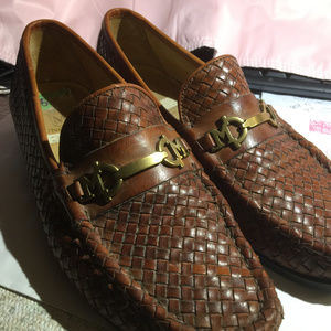 Bruno Magli Men's Brown Wave Leather Dress shoes